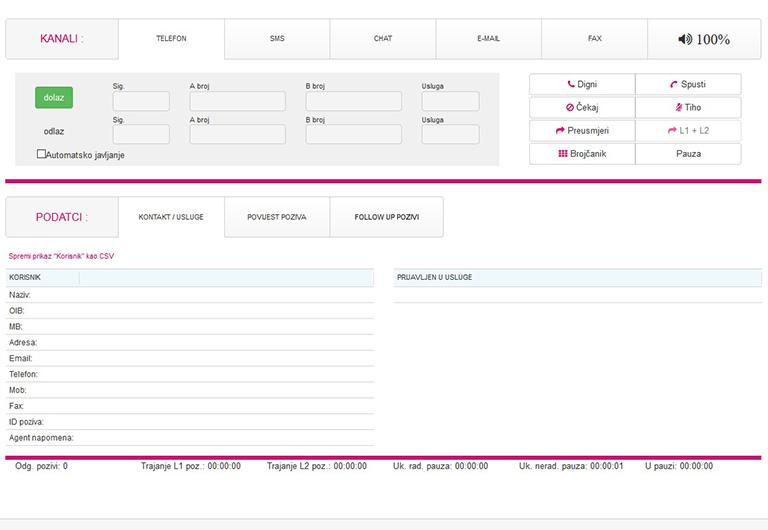 Cloud Call Centar aplikacija - Hrvatski Telekom 2