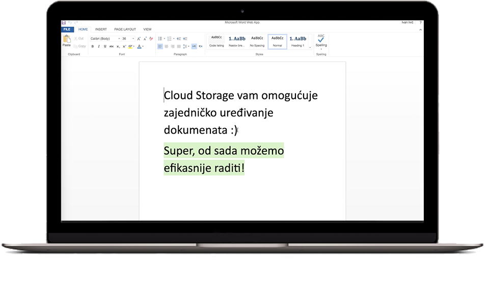 Cloud Storage Uređivanje Office dokumenata